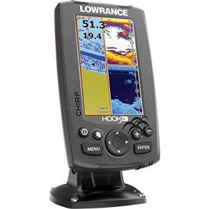 Lowrance Hook-4 Sonar Down-scan Fishfinder review best fish finder under 300