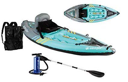 Sevylor Quikpak K1 1-Person Kayak review Best Fishing Kayak Under 500 dollars