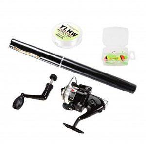 Lixada Telescopic Pen Fishing Rod and Reel Combo
