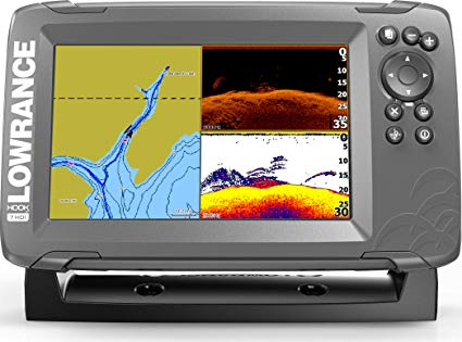 Lowrance Hook-2, 7 Inch Fishfinder With Split Shot Transducer review Best Fish Finder GPS Combo Under $500
