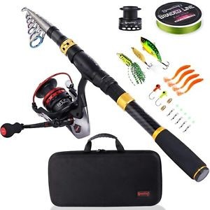 Sougayilang Travel Telescopic Fishing Rod and Reel Combo review