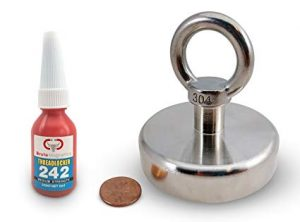 600 LBS Pulling Force, Brute Magnetics Round Neodymium Magnet with Eyebolt review