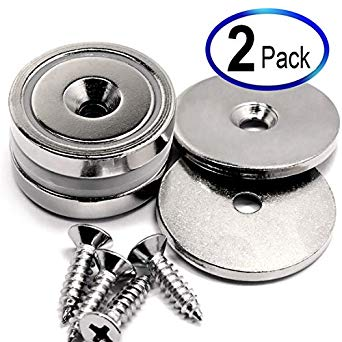 88 LB Each 2 Pack Super Powerful Cup Neodymium Magnets review