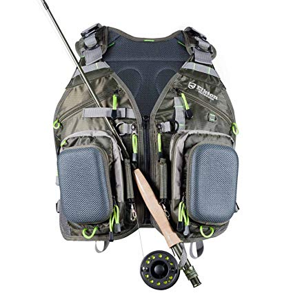 Elkton Outdoors Fly Fishing Vest Backpack with Rod Holders review