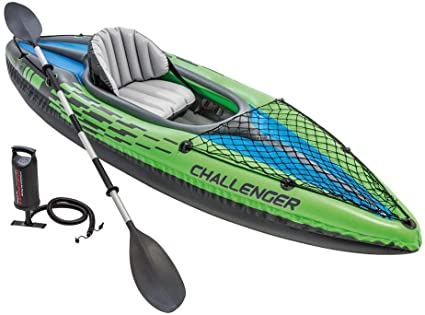 Intex Challenger K1 Kayak, 1-Person Inflatable Kayak