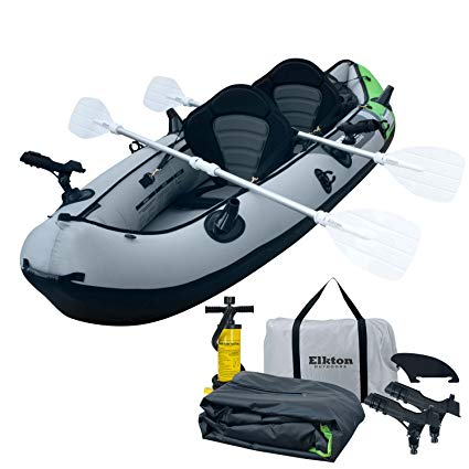 Elkton Outdoors Cormorant 2 Person Inflatable Fishing Kayak review