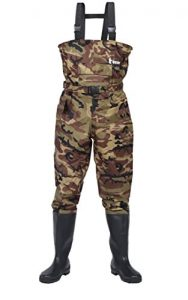 Ouzong Bootfoot Lightweight Waterproof Chest Waders