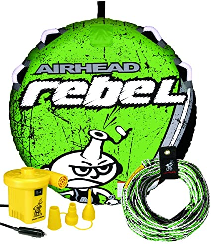Airhead Rebel 54 Inch 1 Person Durable Red Towable Tube