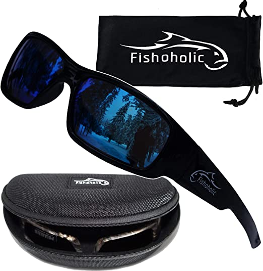 Fishoholic Polarized Fishing Sunglasses - Unisex Sporty Glasses