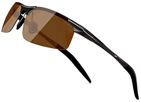 SUNGAIT Men's Polarized Sunglasses- Day and Night Vision