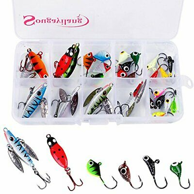 Sougayilang Ice Fishing Jigs with Treble Hook