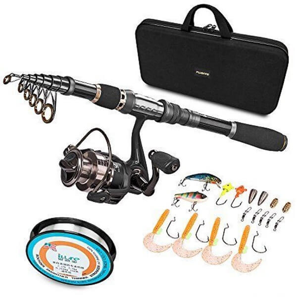 Eagle Claw PK555SP Pack-It Telescopic Spinning Rod