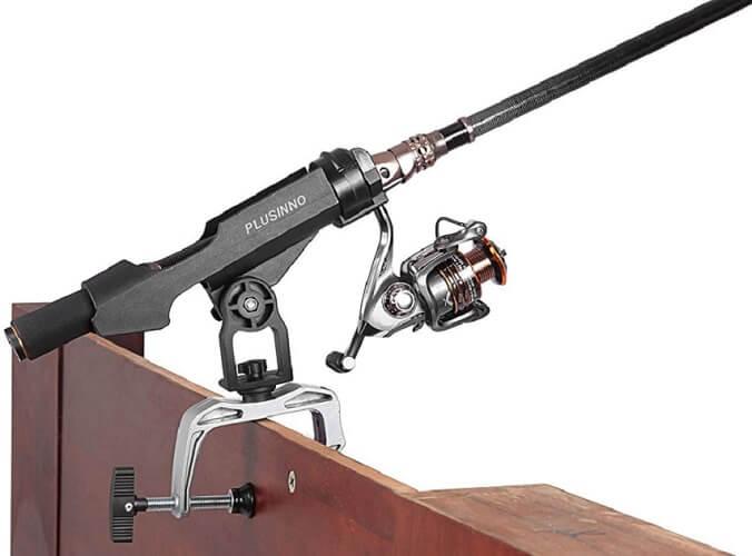 PLUSINNO Carbon Fiber Telescopic Fishing Rod with Reel Combo