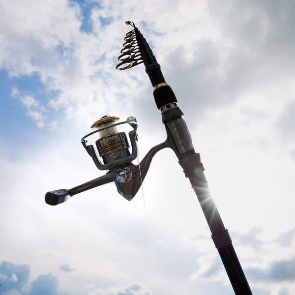 PLUSINNO Saltwater Travel Spinning Fishing Rod
