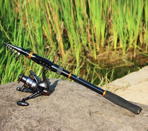 SOUGAYILANG Fishing Rod - 24 Ton Carbon Fiber, Portable Telescopic fishing rod